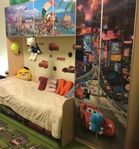 Детская стенка + письменный стол
