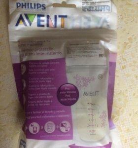 Пакеты для хранения молока Avent
