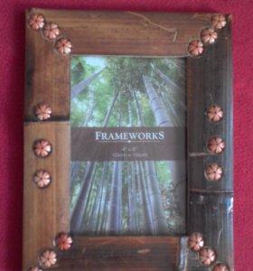 Рамка для фото со стеклом 10х15 бамбук