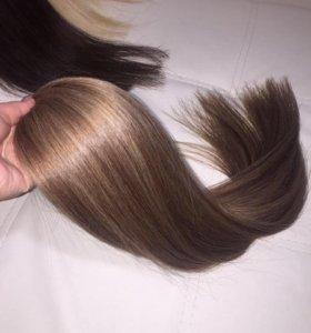 Волосы на капсулах 70 см цвет руссый