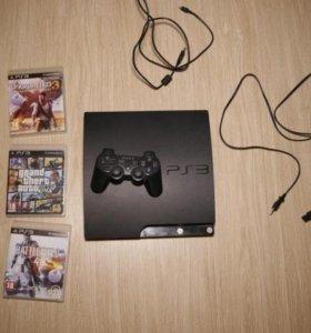 Playstation 3 + игры. Возможна доставка.