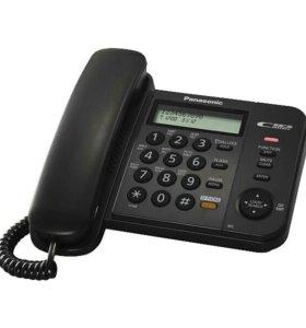 Телефон проводной Panasonic KX-TS2358RUB чёрный