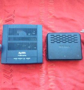 Коммутатор D-link DES-1005A и модем Zyxel P660RT3
