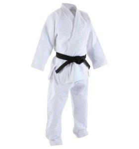 Кимоно для взрослых белое для карате/ дзюдо/айкидо