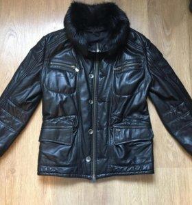 Кожаная куртка Emilio Mazzini зима