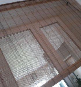 Бамбуковая рулонная штора