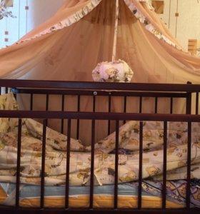 Детская кровать все вместе в отличном состоянии