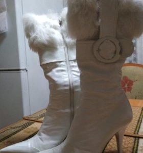 Сапоги кожаные, 38 размер