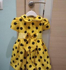 Красивое яркое платье 92-98