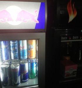 Холодильник Red Bull и burn