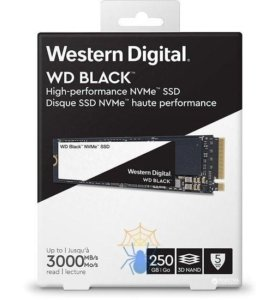 Новый накопитель WD black pci-e 3.0 250gb