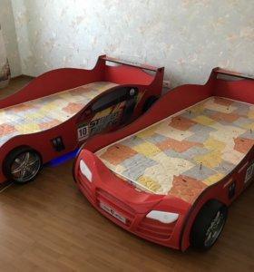 Кровать с подсветкой для мальчика тачки