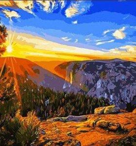 """Картина по номерам """"Утро в горах"""""""