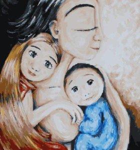 """Картина по номерам """"Быть мамой"""""""