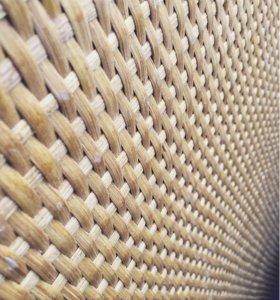 Плиты с ротанговым покрытием