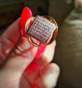 Золотое кольцо 17,5 размер
