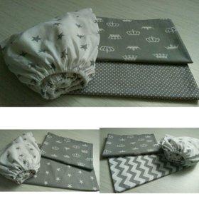 Постельное белье в детскую кроватку на заказ