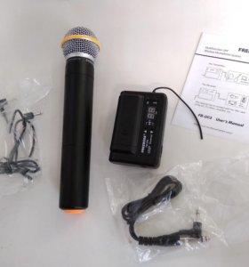 Микрофон Радио Беспроводной для интервью + ресивер