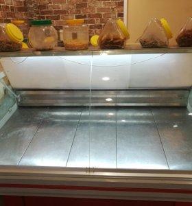 Холодильник, весы,онлайн касса,ящик для денег