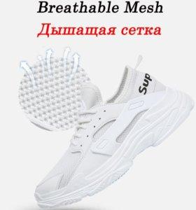 BeiWeiTe HOT Men's White Sport Running Shoes