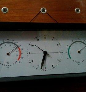 Часы, термометр