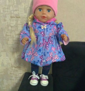 Плащик для куклы бэби борн