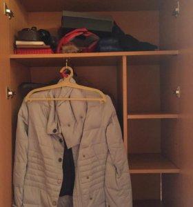 Шкаф  2 секции полки вешалка