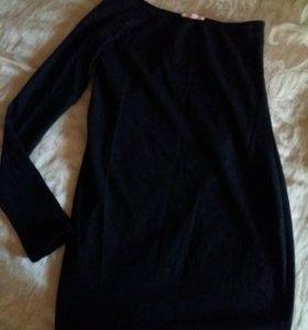 Франция Трикотажное платье туника