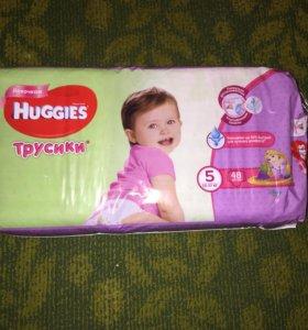 Трусики для девочек Huggies 5 (13-17кг) 48шт