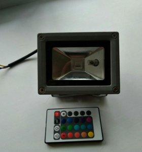 Прожектор светодиодный цветной