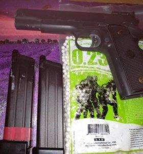 Страйкбольный пистолет WE colt m1911,co2 blow back