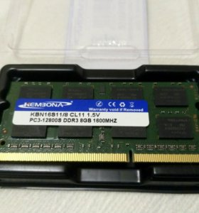 Оперативная память 8G. DDR3.