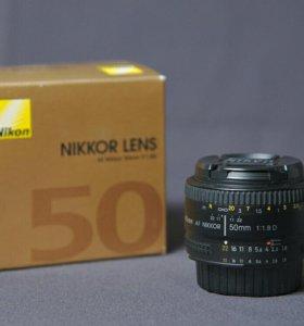 Объектив Nikon 50 mm f/1.8D AF Nikkor
