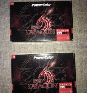Видеокарта Red Dragon rx580 8GB powercolor