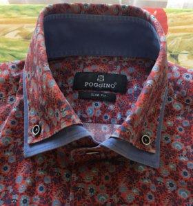 Рубашка принт цветы
