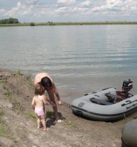 Лодка ПВХ НАВИГАТОР 270 + мотор СИ ПРО 2.5.Отл. с.