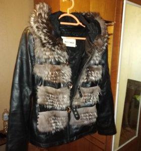 Продам кожаную куртку зима