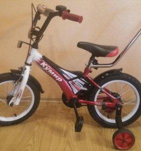 Детский 4-х колесный велосипед от 3-6 лет