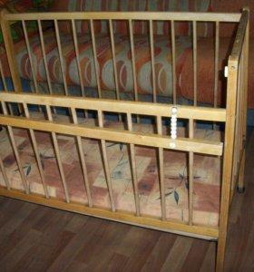 кроватка с матрацем б\у
