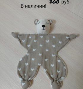 Игрушки сплюшки (комфортер для новорожденных)