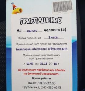 Билет в аквапарк лимпопо