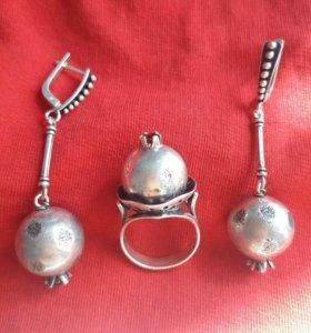 Комплект серебряный