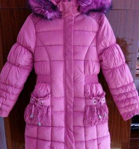 Пальто зимние новое  на 10—12 лет