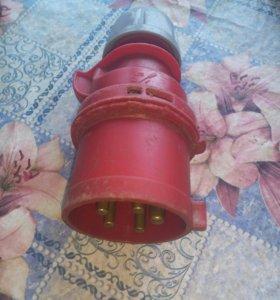 Вилка кабельная, 32A 400V 3P+N+E IP44, РСЕ 025-6