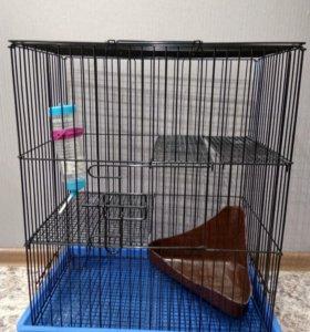 Продам клетку б/у для шиншилы или других грызунов