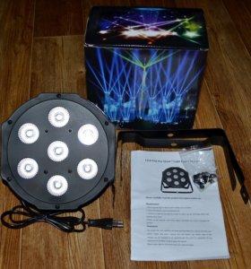 прожектор LED PAR 7x12 Вт rgbw