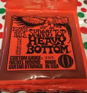 Ernie Ball Skinny Top струны для электро гитары