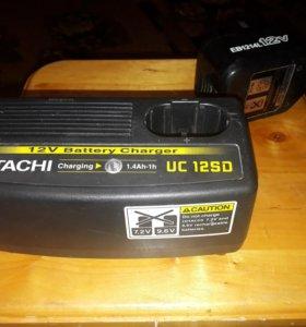 Зарядное устройство и аккумулятор Hitachi