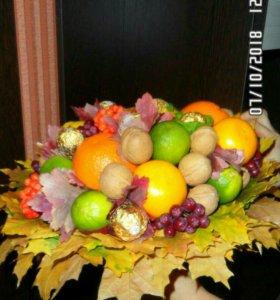 Сьедобные букеты (фруктовые, овощные... )