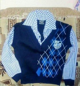 Рубашка-жилетка для мальчика